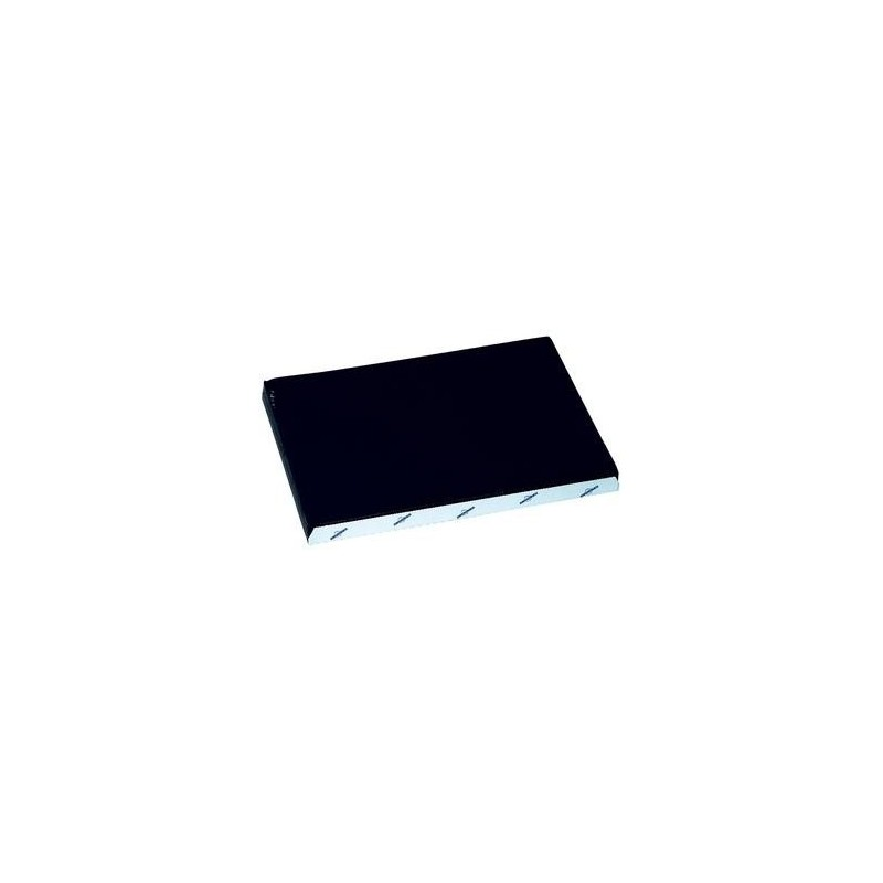 Black disposable paper table set embossed 30x40 cm - the 1000
