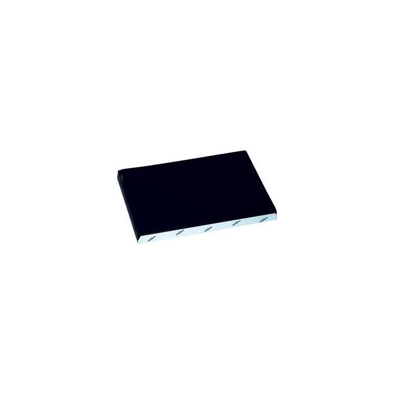 Conjunto de mesa de papel desechable negro en relieve 30x40 cm - el 1000