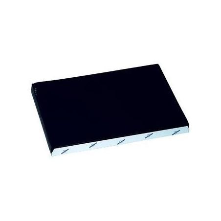 Schwarzes Einweg-Papiertischset geprägt 30x40 cm - die 1000