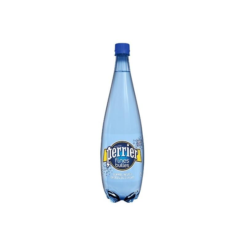 Agua PERRIER Fine Bubbles botella de plástico azul 1 L