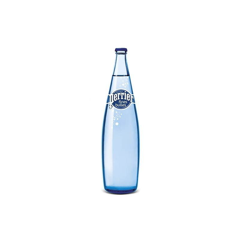Eau PERRIER Fines Bulles 12 bouteilles de 1 L en verre consigné (consigne de 4,20 € comprise dans le prix)