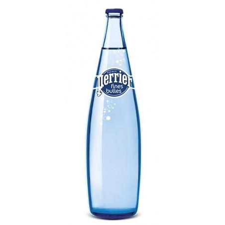 Agua PERRIER Fine Bubbles 12 botellas de 1 L en vidrio retornable (depósito de 4,20 € incluido en el precio)