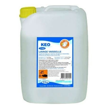 KEO Liquid Dishwasher Cleaner for Professional and Special Machine - 24 kg Can