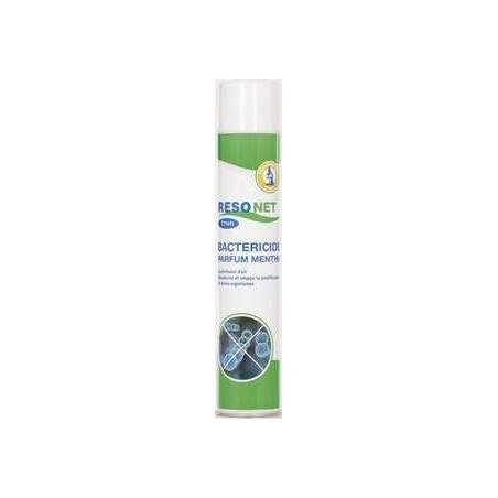 Désodorisant Bactéricide AFNOR NFT72-150 parfum Menthol en aérosol de 750 ml