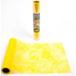 Table runner YELLOW polytulle width 30 cm - the roll of 10 m