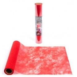 Run da tavolo Larghezza del polytulle ROSSO 30 cm - il rotolo di 10 m