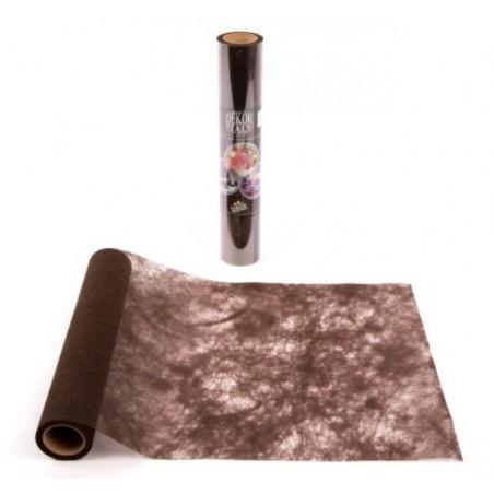 Corredor de la tabla Marrón chocolate Polytulle ancho 30 cm - el rollo de 10 m