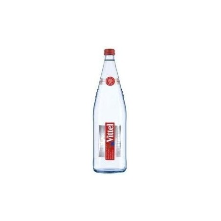 Eau VITTEL - 12 bouteilles de 1 L en verre consigné (consigne de 4,20 € comprise dans le prix)