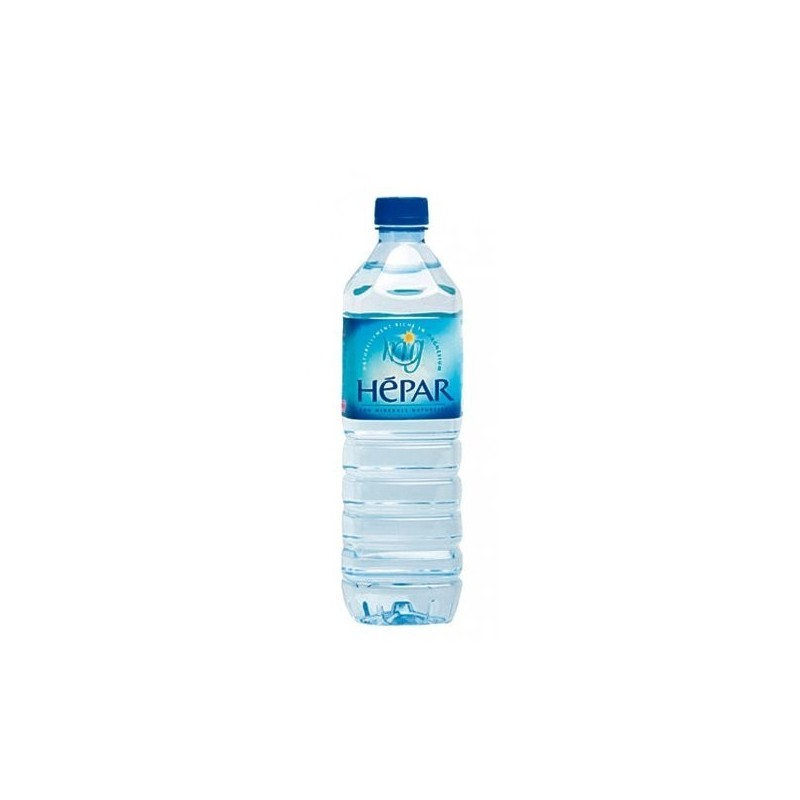 HEPAR water PET plastic bottle 1 L
