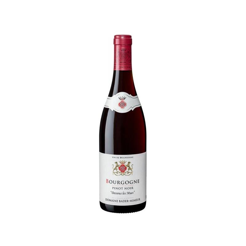 BOURGOGNE Pinot Noir Bader-Mimeur Dessous Les Mues Red wine AOC 75 cl