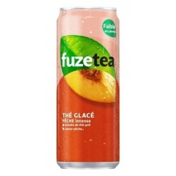 FUZE TEA Peach box metal 33 cl