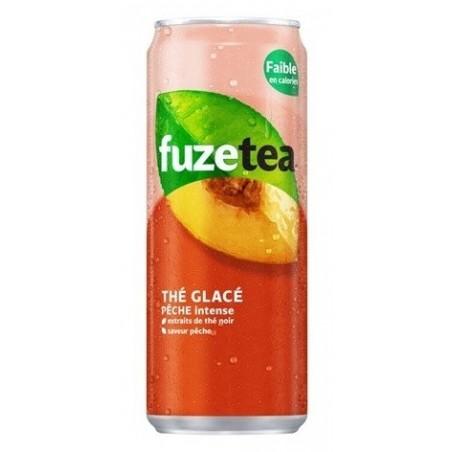 FUZE TEA melocotón caja de metal 33 cl