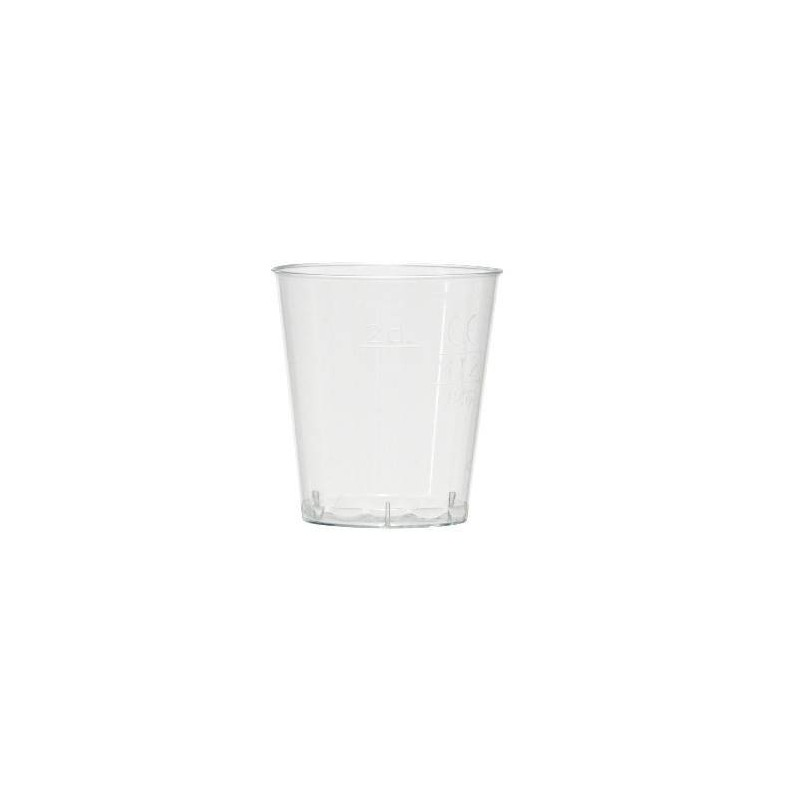GLASS Tasting transparent crystal injected 5 cl gauge to 2 and 4 cl - the 50