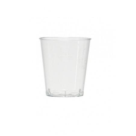 VIDRIO Degustación transparente cristal inyectado calibre 5 cl a 2 y 4 cl - el 50