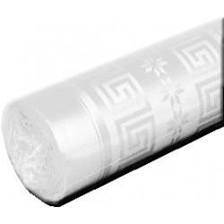 Nappe Blanche en papier damassé largeur 1,20 m - le rouleau de 25 m