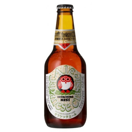 Cerveza HITACHINO NEST CLASSIC ALE ámbar Japón IPA 7 ° 33 cl