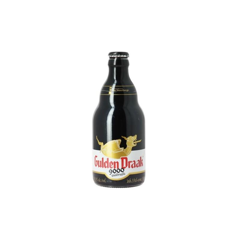 Bière GULDEN DRAAK 9000 Quadruple Ambrée Belge 10,5° 33 cl