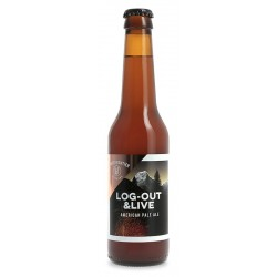 cerveza WHITE FRONTIER LOG OUT & LIVE Rubia suiza 5 ° 33 cl