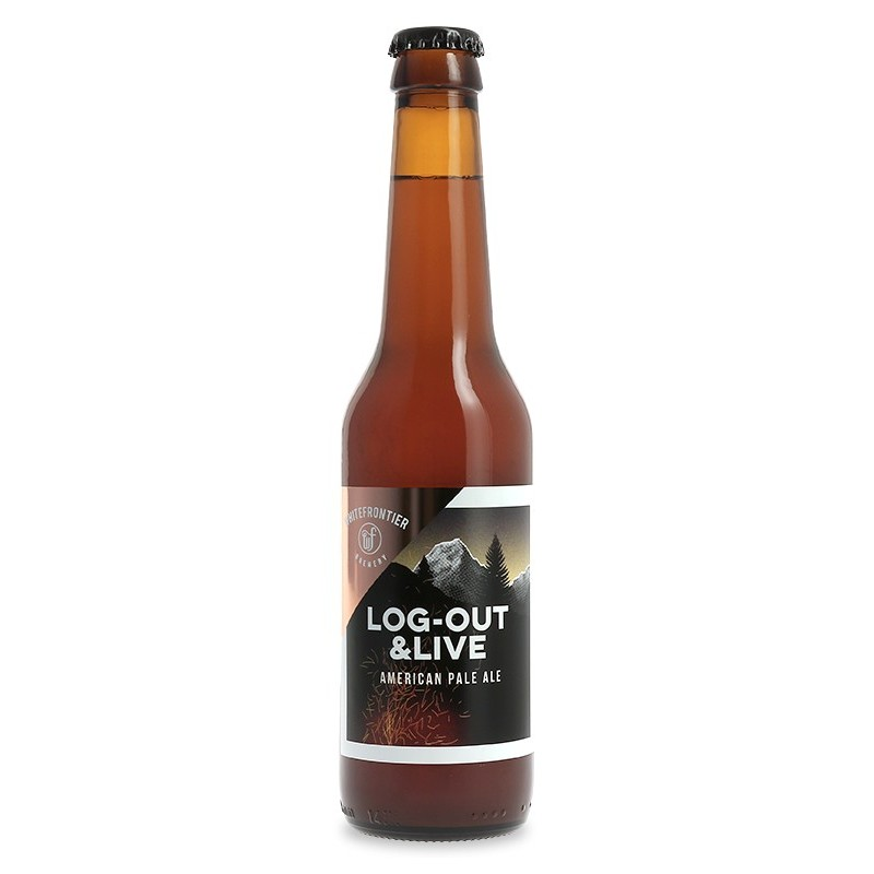 Bière WHITE FRONTIER LOG OUT & LIVE Blonde Suisse 5° 33 cl