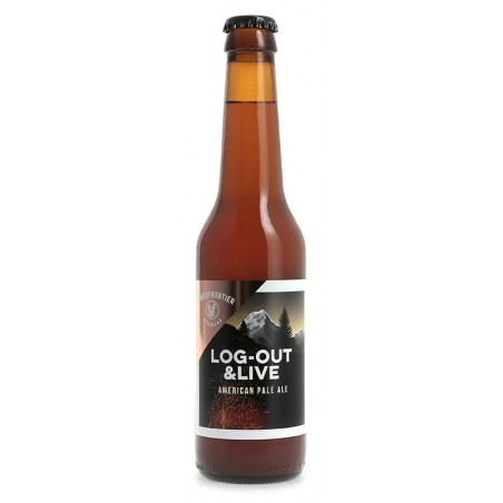 Beer WHITE FRONTIER LOG OUT & LIVE Swiss Blond 5 ° 33 cl