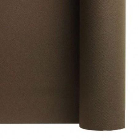 Corredor de mesa no tejido CHOCOLATE ancho 40 cm - el rollo de 24 m (precorte cada 30 cm)