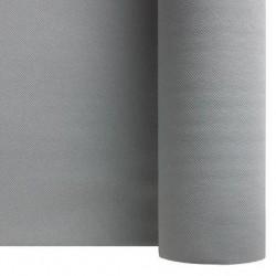 Chemin de Table Intissé GRIS ARGENT largeur 40 cm - le rouleau de 24 m (prédécoupé tous les 30 cm)