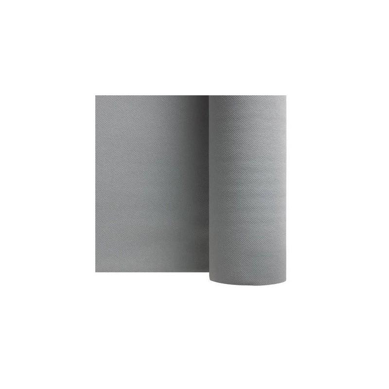 Runner non tessuto GRIGIO ARGENTO larghezza 40 cm - il rotolo di 24 m (pretagliato ogni 30 cm)