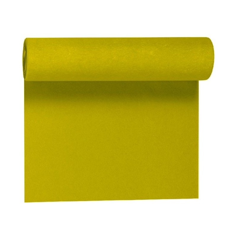 Non-woven Table Runner GREEN KIWI width 40 cm - the roll of 24 m (pre-cut every 30 cm)