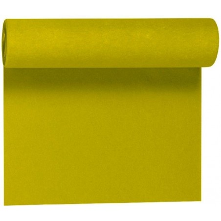 Corredor de mesa no tejido KIWI VERDE ancho 40 cm - el rollo de 24 m (precorte cada 30 cm)