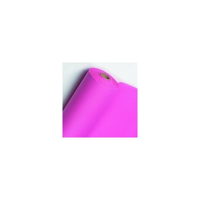 Corredor de mesa no tejido Rosa fucsia ancho 40 cm - el rollo de 24 m (precorte cada 30 cm)