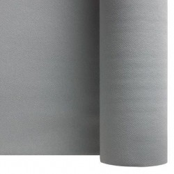 Tablecloth Gray Silver non-woven paper width 1.20 m - 25 m roll