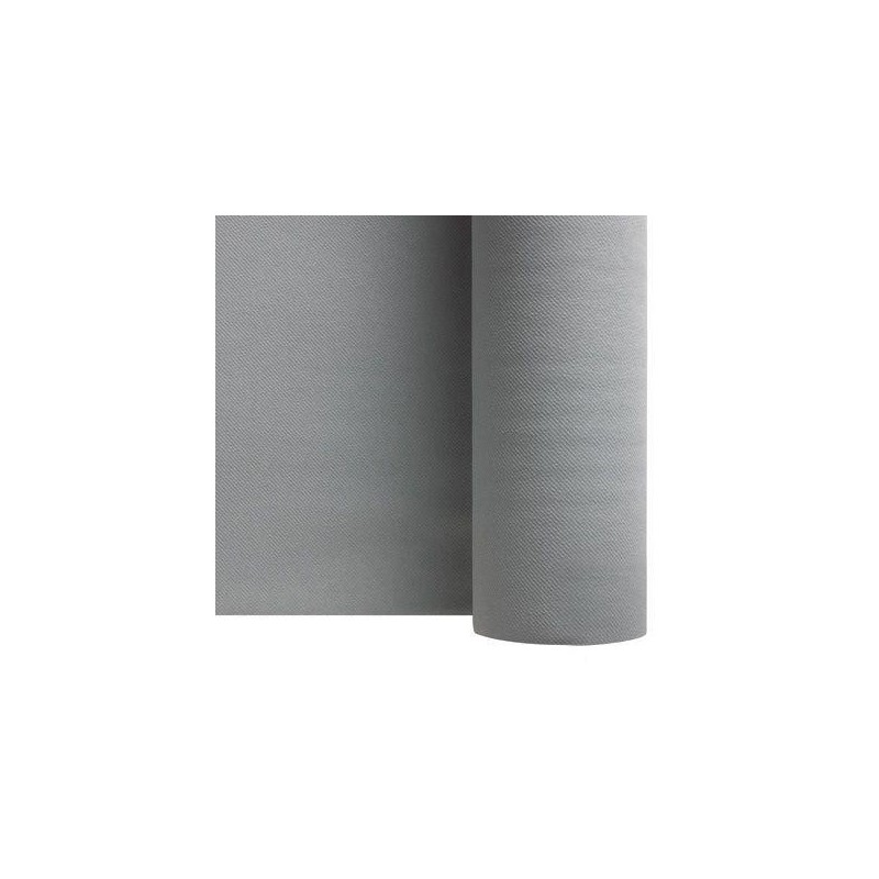 Nappe Gris Argent en papier intissé largeur 1,20 m - le rouleau de 25 m