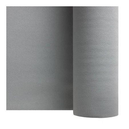 Tovaglia grigia in carta non tessuta argento larghezza 1,20 m - rotolo da 25 m