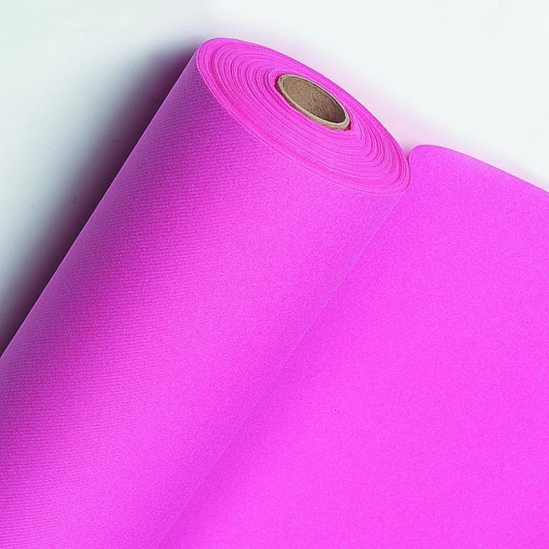 Rose Fuchsia tablecloth in non-woven paper width 1.20 m - the 25 m roll