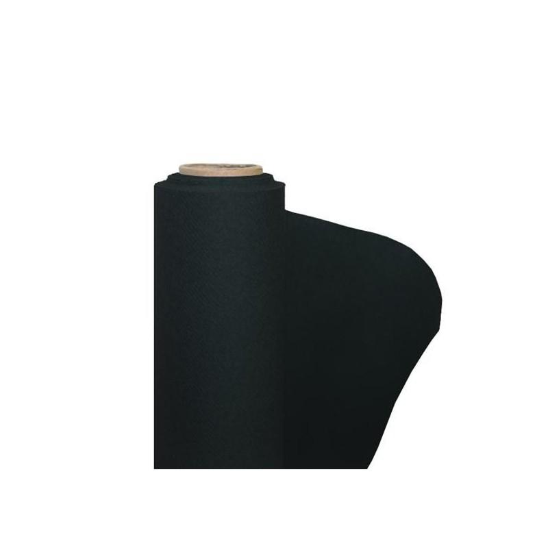 Nappe Noire en papier intissé largeur 1,20 m - le rouleau de 25 m
