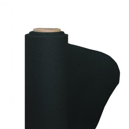 Black nonwoven paper tablecloth width 1.20 m - the 25 m roll