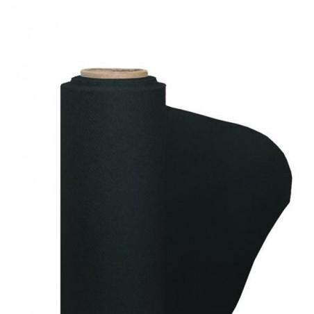 Mantel de papel no tejido negro ancho 1.20 m - el rollo de 25 m