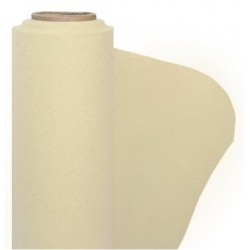 Ivory nonwoven paper tablecloth width 1.20 m - the 25 m roll