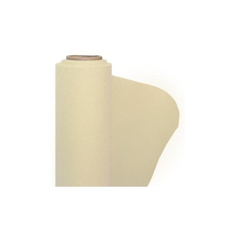 Mantel de papel no tejido marfil ancho 1.20 m - El rollo de 25 m.