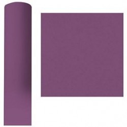 Plum tablecloth in non-woven paper width 1.20 m - the 25 m roll