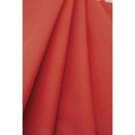 Mantel rojo en papel no tejido ancho 1.20 m. - El rollo de 25 m