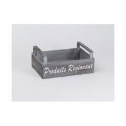 cajas de madera gris Productos locales