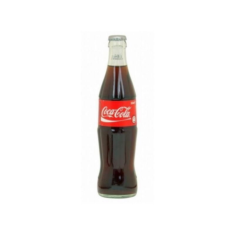 COCA COLA 24 botellas de 33 cl en vidrio retornable (depósito de 5,50 € incluido en el precio).