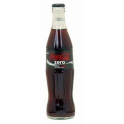 COCA COLA Zero 24 Flaschen à 33 cl in Mehrwegglas (Kaution 5,50 € im Preis enthalten)