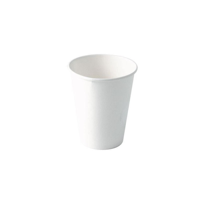 WHITE CARTON CUP for hot and cold beverage size 12 cl - 50