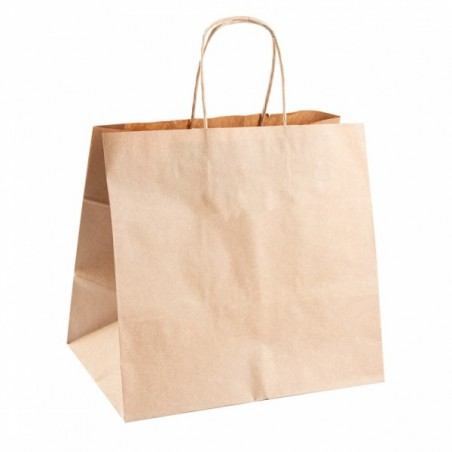 POCKET KRAFT paper catering format with handles 26 + 17x24 cm - the 250