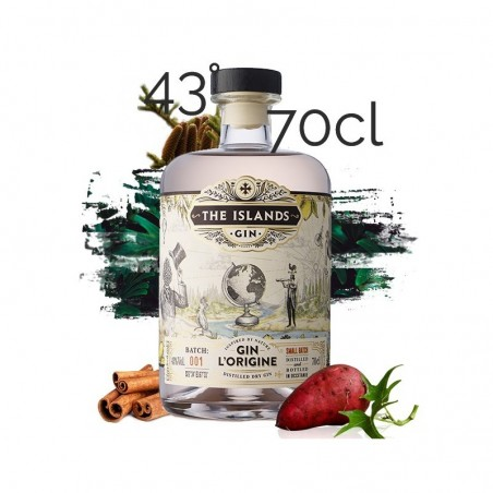 GIN L'Origine The Islands Spirits 43° 70 cl