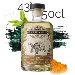"""GIN Aged Barrel Spicy """"T"""" The Islands Spirits 43° 50 cl"""