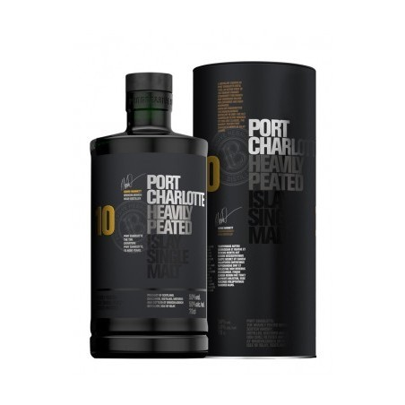 WHISKEY Port Charlotte Heavily Peated 10 Years Peated Islay 50° 70 cl