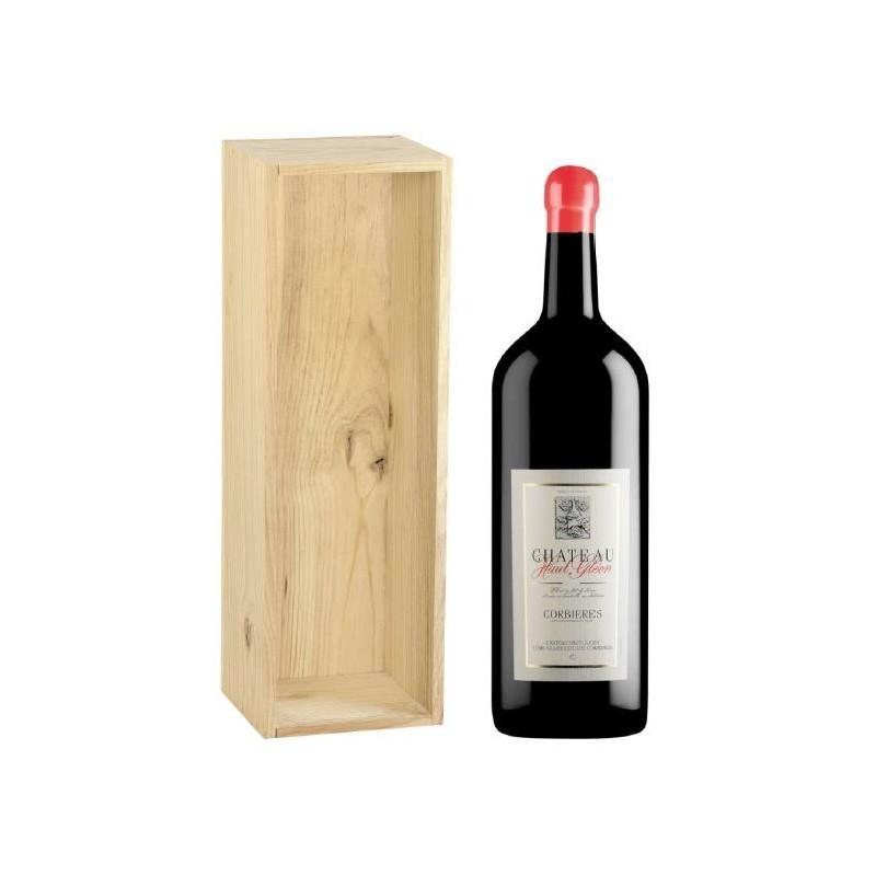 Château Haut Gléon CORBIERES Vino tinto DOP 3 L en su estuche de madera
